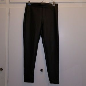 Black Faux Leather Jeggings XL NEW